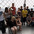 Some of the pupils at the top of the Eiffel Tower
