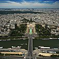 View from the top of Eiffel Tower